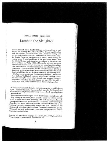 a lamb to the slaughter pdf