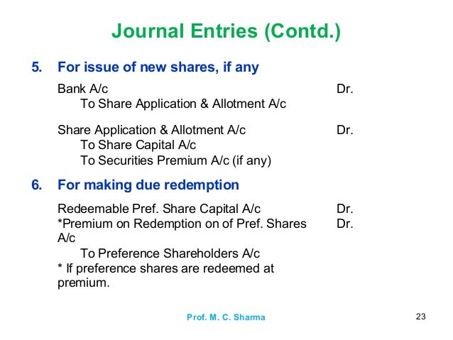 issue of shares journal entries pdf