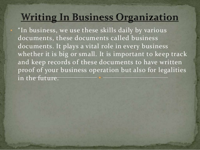 effective business writing skills pdf