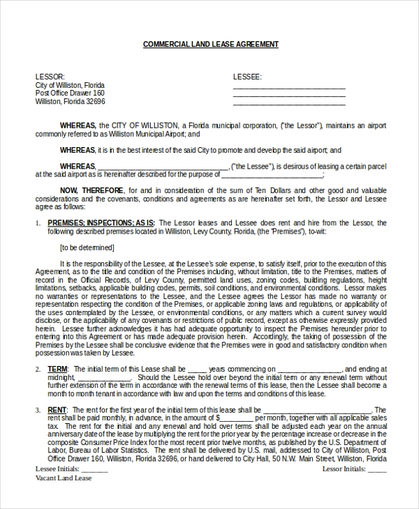 florida commercial lease agreement pdf