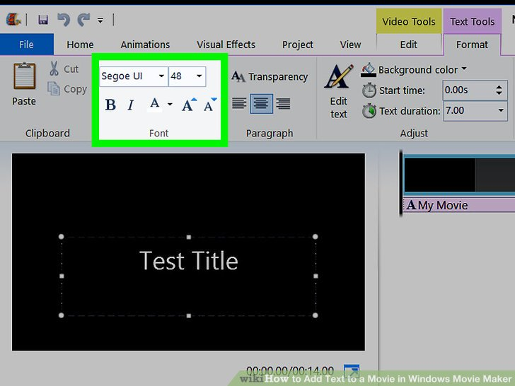 how to change font size in pdf preview
